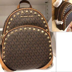 Michael KORS Backpack Studded Acorn Brown